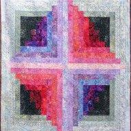 Lilac Mist Modern Quilt Handmade