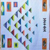 Migration Modern Quilt Handmade