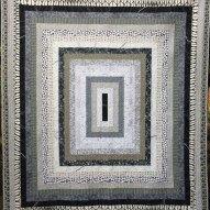 Monochrome Medallion Modern Quilt Handmade