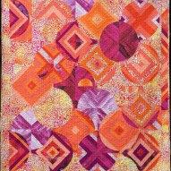 Nectarine Modern Quilt Handmade