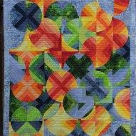 Orange Grove Sun Modern Quilt Handmade