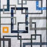 Out of Bounds Modern Quilt Handmade