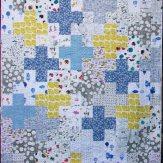 Plus One Modern Quilt Handmade