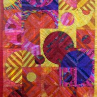 Psychadelic Cosmos Modern Quilt Handmade