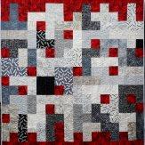 Red Rover Modern Quilt Handmade