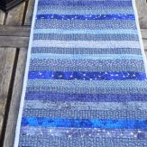 Star Dash Modern Quilt Table Runner Handmade