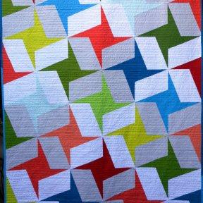 Trade Winds Modern Quilt Handmade