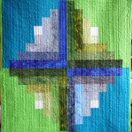 Wintergreen Modern Quilt Handmade