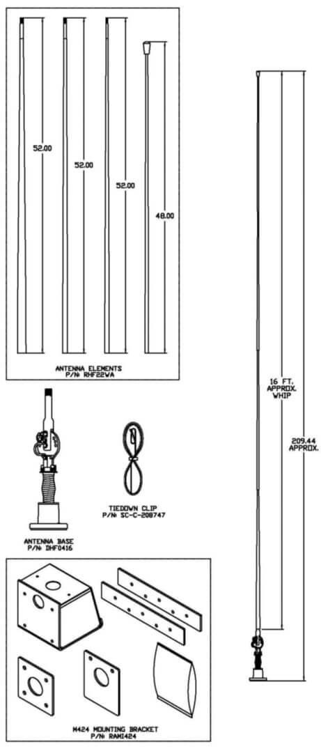 RAMI1616 technical drawing