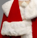 Santa suits are a challenge because they have bright white fur and red cloth that may bleed into it