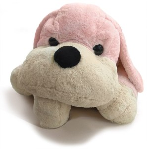 Bigger than any preschooler, this plush puppy has become fluffy again after lots of loving