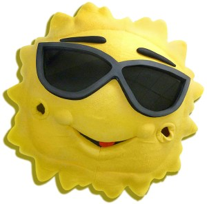 Team mascots like this Mr. Sunshine bring a smile to our staff when they come in to be cleaned