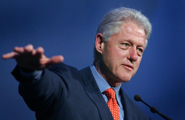 El ex presidente de Estados Unidos, Bill Clinton, durante su visita a Tenerife en 2005