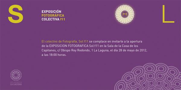 Invitación Exposición colectiva Fotografía Sol f11