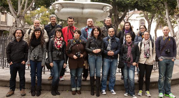Alumnos del Curso Básico de Fotografía Digital celebrado el 23 y 24 de febrero en Tenerife
