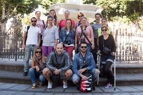 Grupo del Curso Básico de Fotografía Digital celebrado en Tenerife este fin de semana
