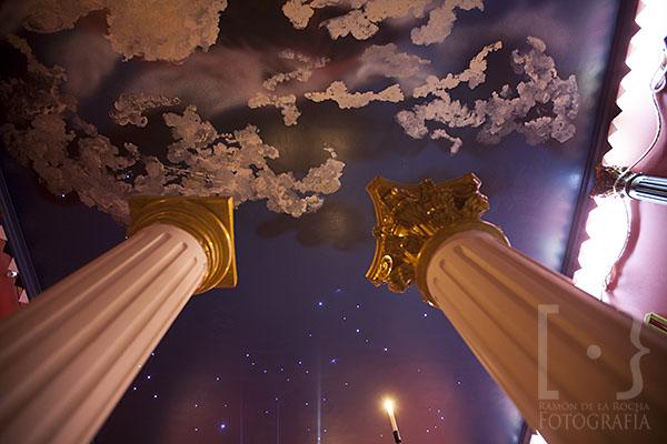 Techo sobre el templo pintado con estrellas según el día 1 del año cero del cristianismo. © Ramón de la Rocha