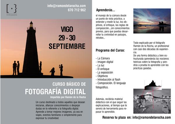 Cartel del Curso de Fotografía en Vigo
