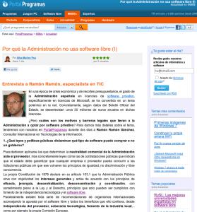 Entrevista en MilBits y PortalProgramas