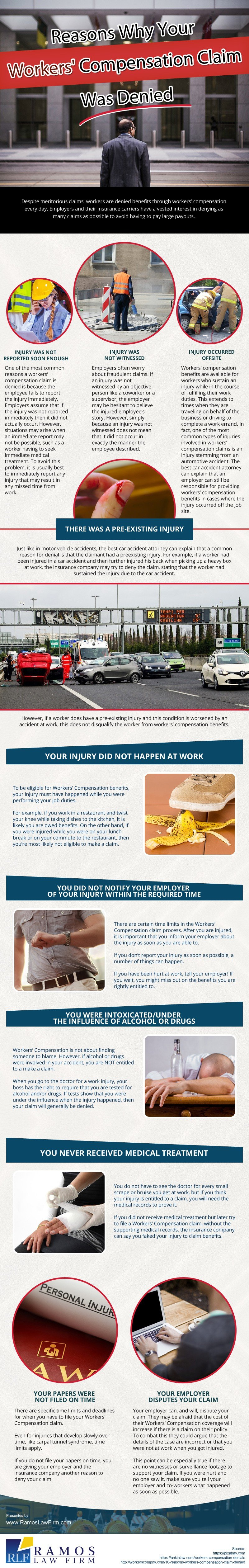 Reasons Why Your Workers' Compensation Claim Was Denied