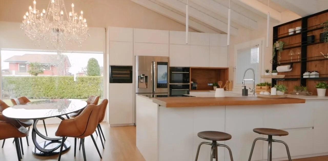 Soprattutto nelle case di nuova costruzione, molto spesso è possibile trovare un unico ambiente che racchiude la cucina e la zona living. Come Arredare Una Cucina Con Soggiorno Mobilifici Rampazzo