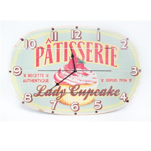 wall clock Lady Cupcake