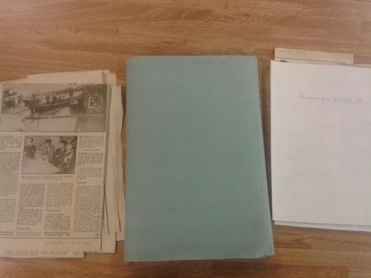 Folders regarding the flood of 1926 by Astrid Parys (A Bike ride Down Memory Lane)