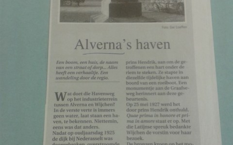 Monument in Alverna by Astrid Parys (A Bike ride Down Memory Lane)