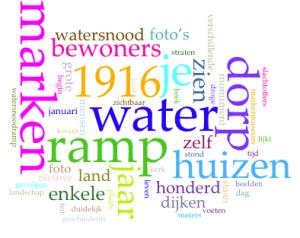 100 jaar droge voeten door Bob van Helden Wordcloud