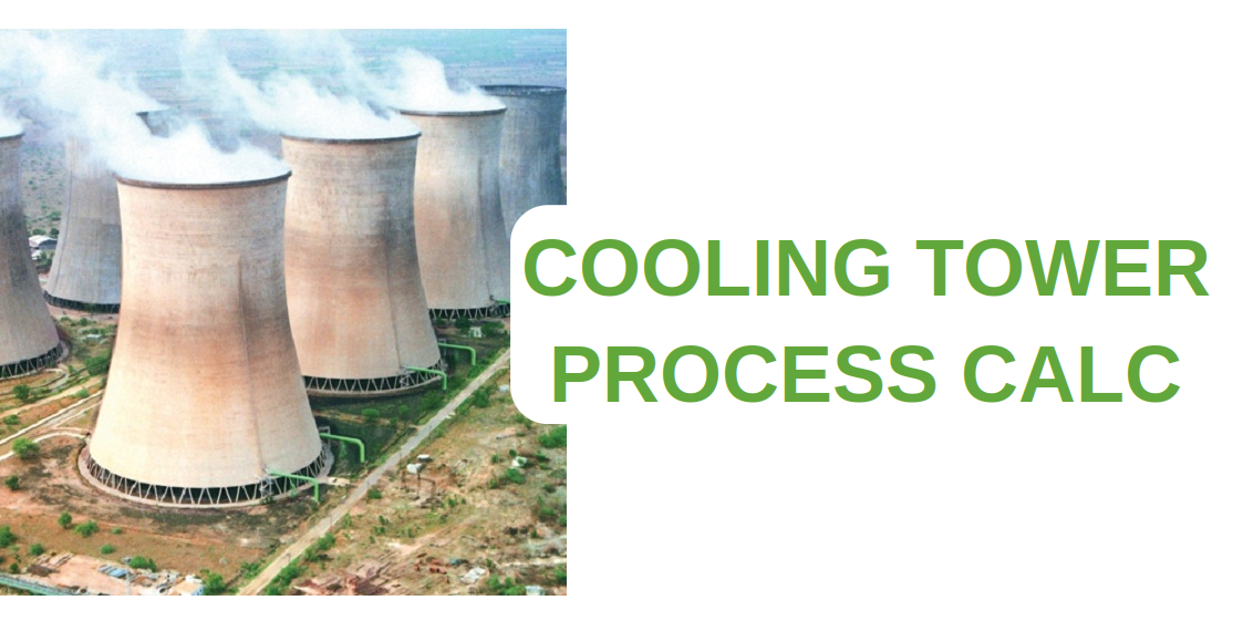 Cooling tower process calculator
