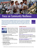 Cover: Focus on Community Resilience