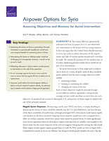Cover: Airpower Options for Syria