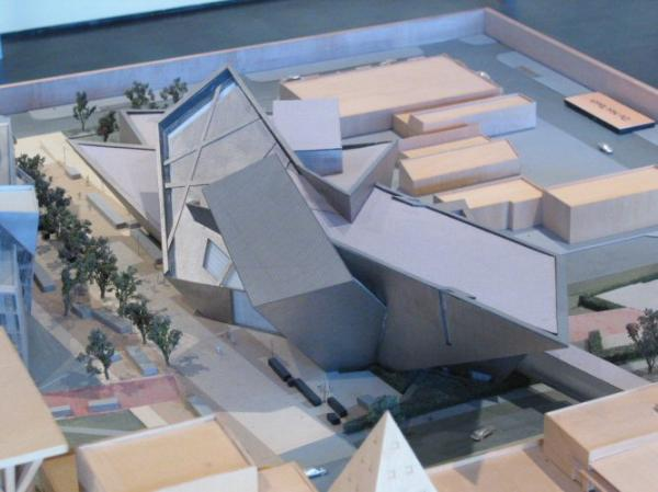 Building Is In The Front And Existing For Denver Art Museum Shown Back