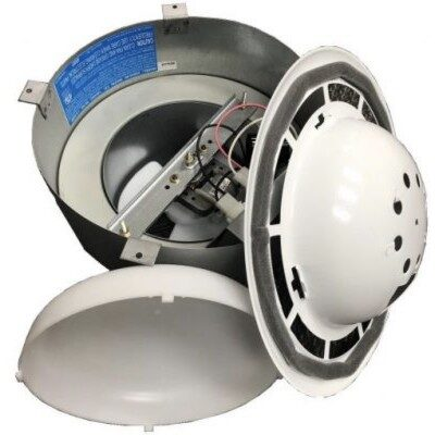ventline bathroom ceiling fan with light vertical exhaust