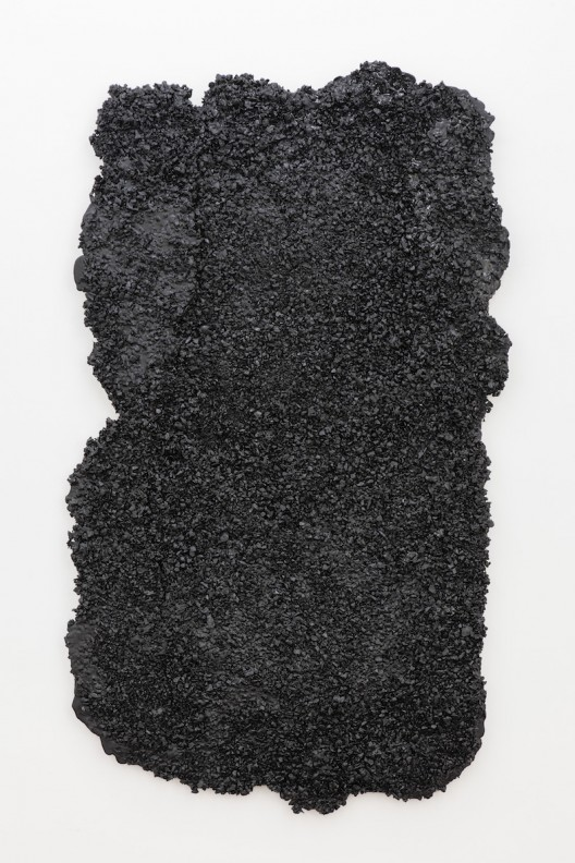 Rest 休息, SU Chang 苏畅, 2015. Asphalt, stone, carbon fiber, wood and glue 沥青、石子、碳纤维、木和胶, 165 x 95 x 5 cm