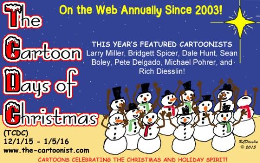 The Cartoon Days of Christmas (TCDC) Logo