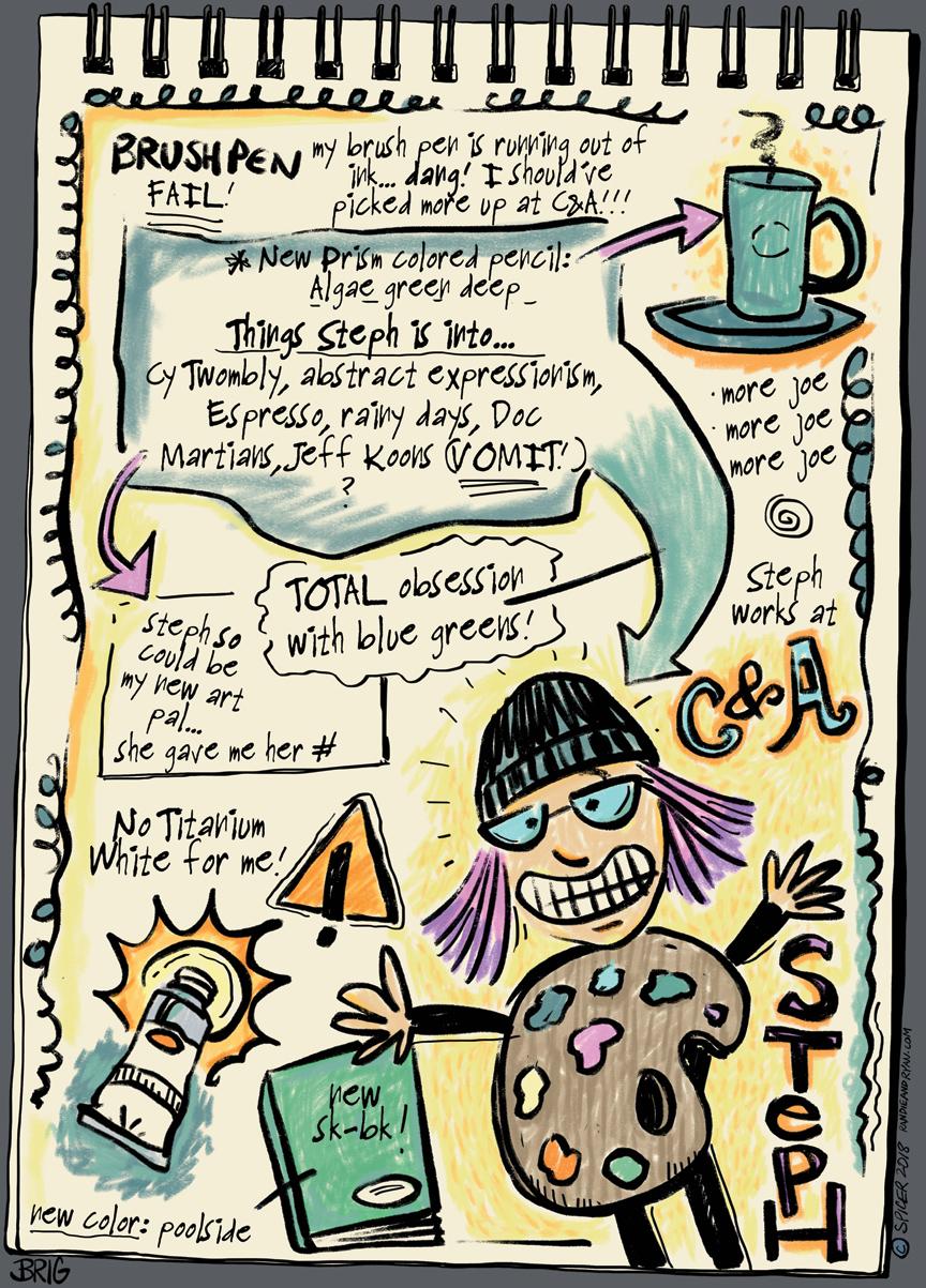 Randie and her Sketchbook