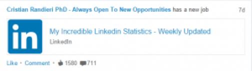 Linkedin new job cristian randieri