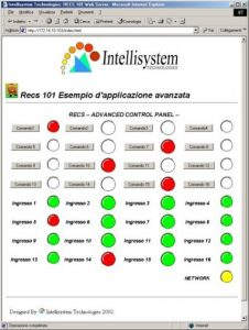 Fig. 8 - Esempio di una possibile interfaccia GUI implementata in RECS 101