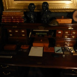 Antique Desk and Typewriter. Historical Denver