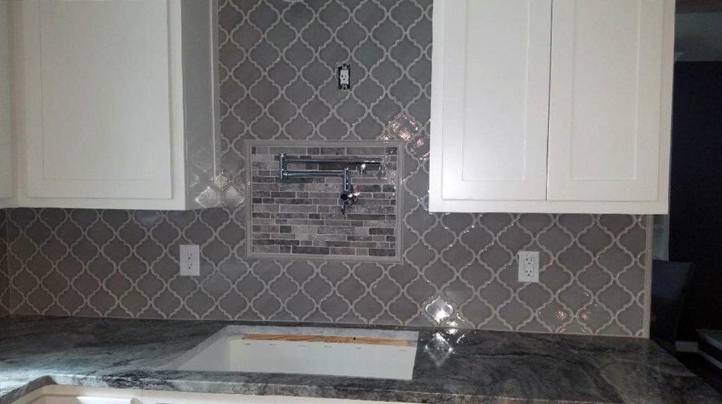 Backsplash Tiling in Kitchen Remodel
