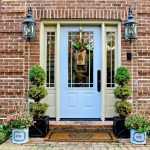 Artificial Front Porch Topiary Randolph Indoor And Outdoor Design