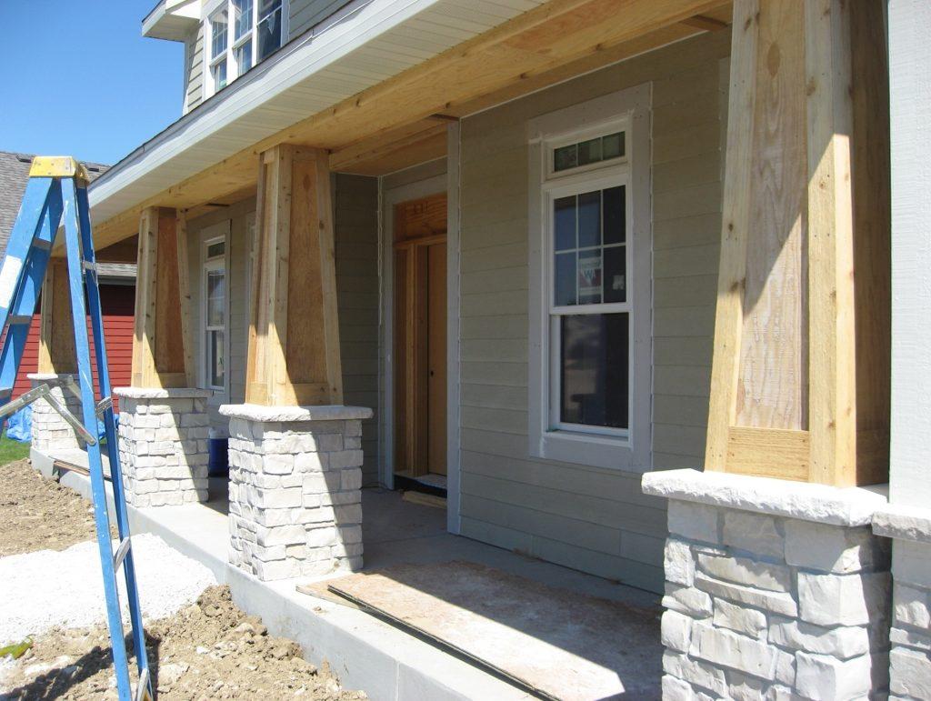Front Porch With Cedar Columns And Corbels Randolph