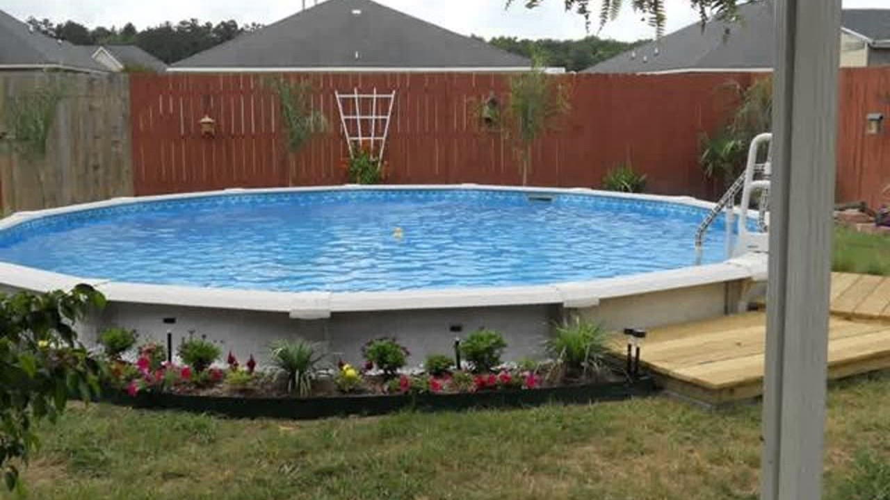 Above Ground Pool Landscaping Ideas On A Budget — Randolph ... on Pool Patio Ideas On A Budget id=68249