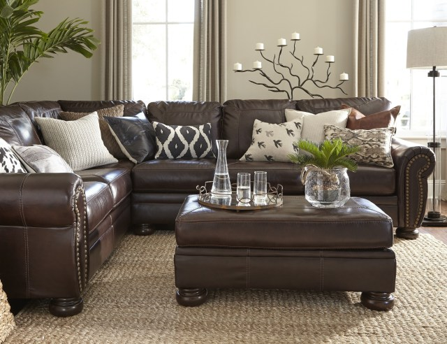 Brown Leather Couch Decor — Randolph Indoor and Outdoor Design