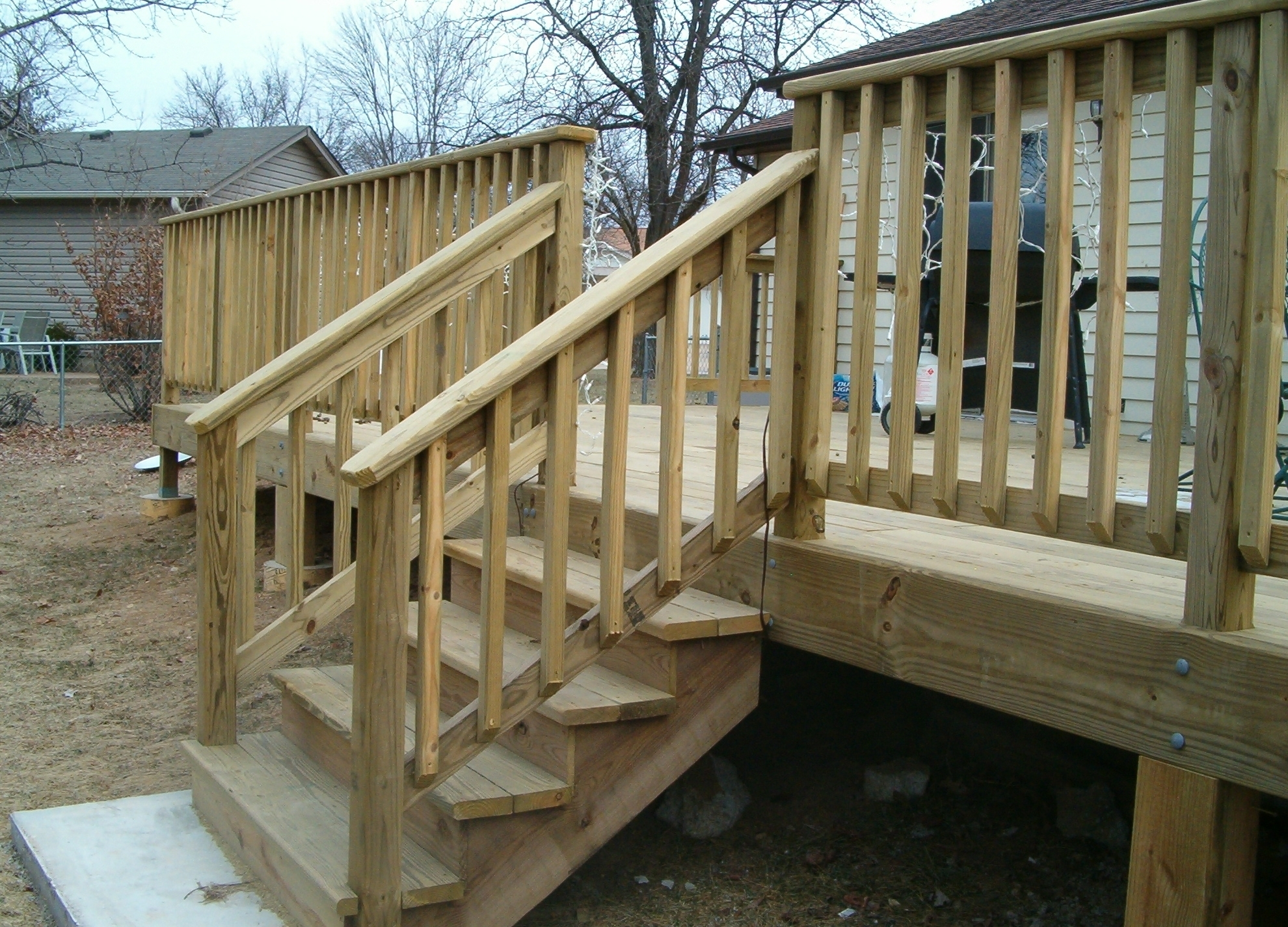 Wooden Handrails For Porch Steps — Randolph Indoor And Outdoor Design | Handrails For Front Steps | Stair | Brick | Steel | Simple | Contemporary