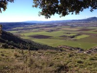 La plaine depuis l'aire d'envol