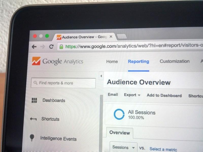 Google Analytics im Browser (Bild: Screenshot).