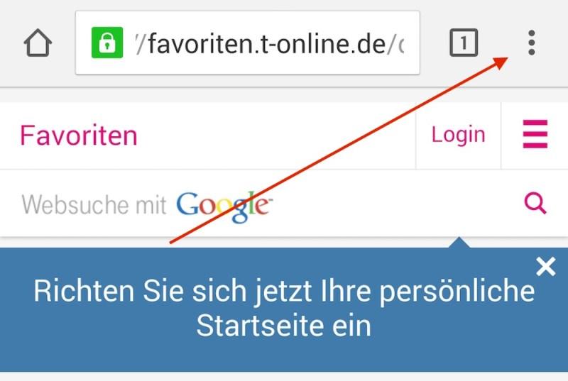 Die Einstellungen in Chrome für Android öffnen (Bild: Screenshot Chrome).