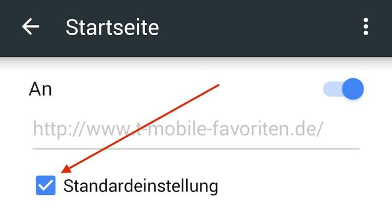 Standardeinstellung deaktivieren und die Startseite verschwindet (Bild: Screenshot Chrome).